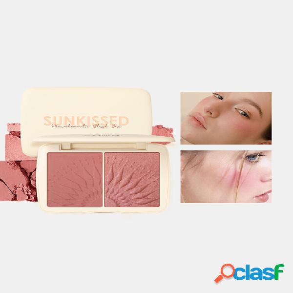 8 colori blush powder palette highlighter palette facial brighten shadow contour highlighter