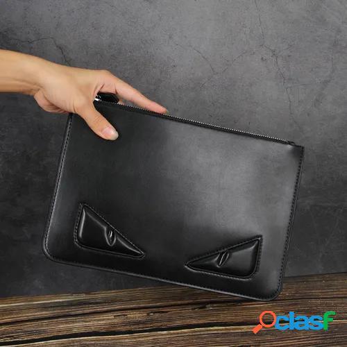 New pu leather men's bag clip bag new monster large capacity envelope bag clutch