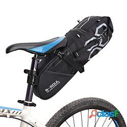 B-soul 12 l borsa posteriore laterale da bici massima capacità ompermeabile strisce riflettenti borsa da bici poliestere pvc marsupio da bici borsa da bici bici da strada mountain bike lighti