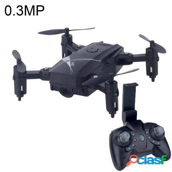 Mini drone rc quadricottero pieghevole con fotocamera (nero)