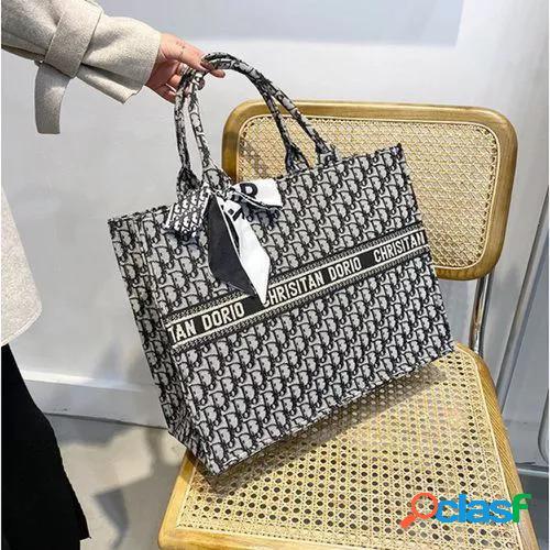 New printed color matching phopping bag women's bag fashion tote handbags large capacity one-shoulder handbags