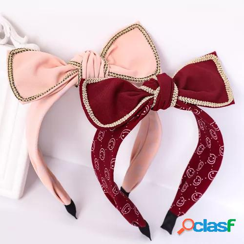 New bowknot headbands cute sweet women hair accessories fashion calico cloth hair bundle scrunchy