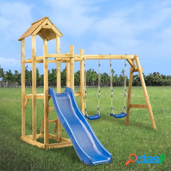 Vidaxl casa giochi con scivolo altalena scala 285x305x226,5 cm