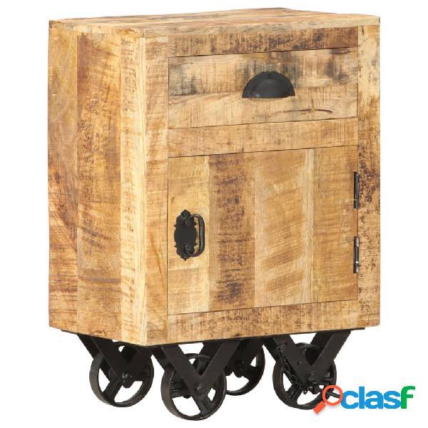Vidaxl comodino 40x30x57 cm in legno massello di mango