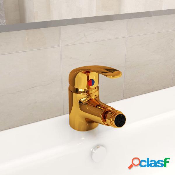 Vidaxl rubinetto miscelatore per bidè oro 13x12 cm