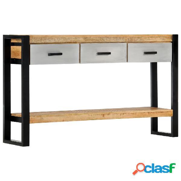 Vidaxl tavolo consolle 130x30x76cm in legno massello di mango