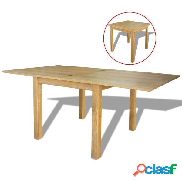 Vidaxl tavolo estensibile in legno di rovere 170x85x75 cm