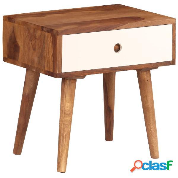 Vidaxl comodino in legno massello di sheesham 45x30x45 cm