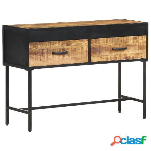 Vidaxl tavolo consolle 110x35x75 cm in legno di mango grezzo