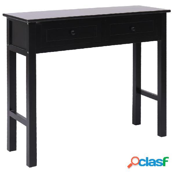 Vidaxl tavolo consolle nero 90x30x77 cm in legno