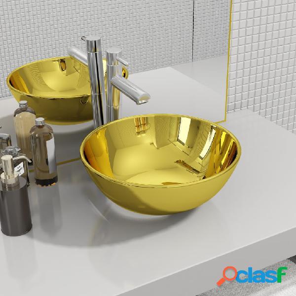 Vidaxl lavandino 28x10 cm in ceramica oro