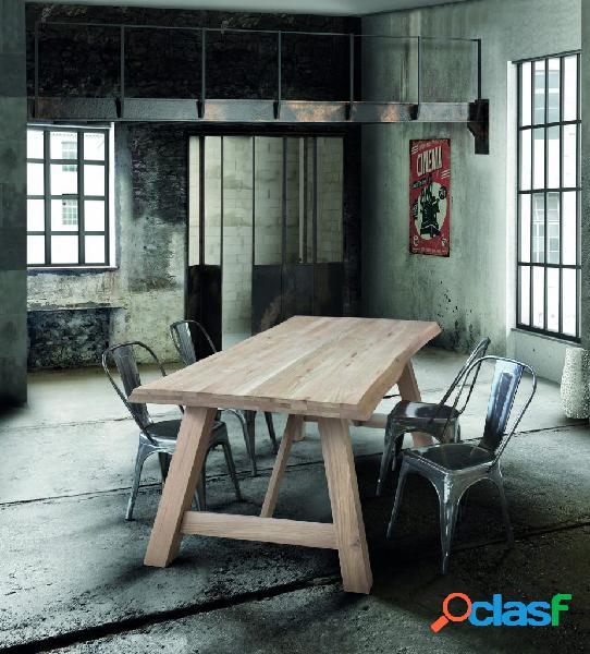 Tavolo campidoglio in legno massello sp. 6 cm 250×100 cm