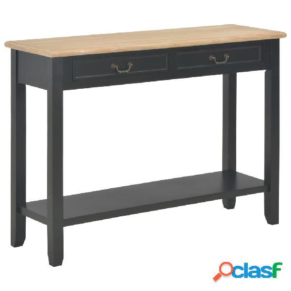 Vidaxl tavolo consolle nero 110x35x80 cm in legno