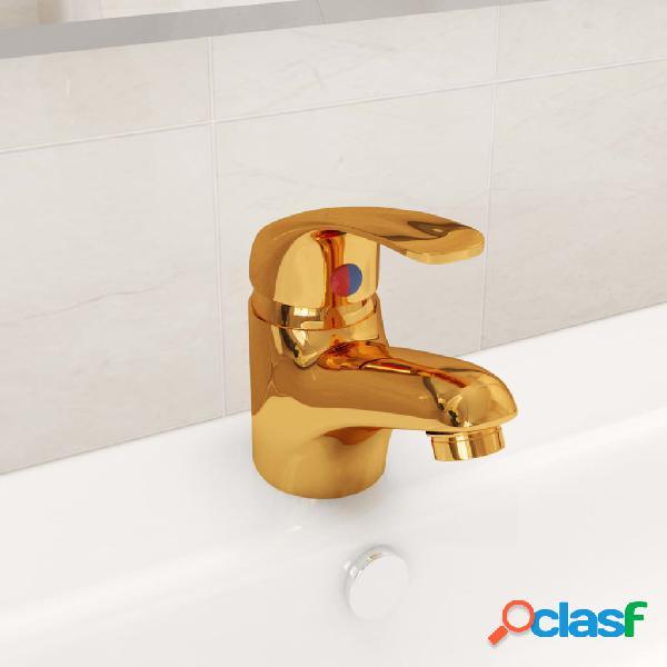 Vidaxl rubinetto miscelatore oro 13x10 cm