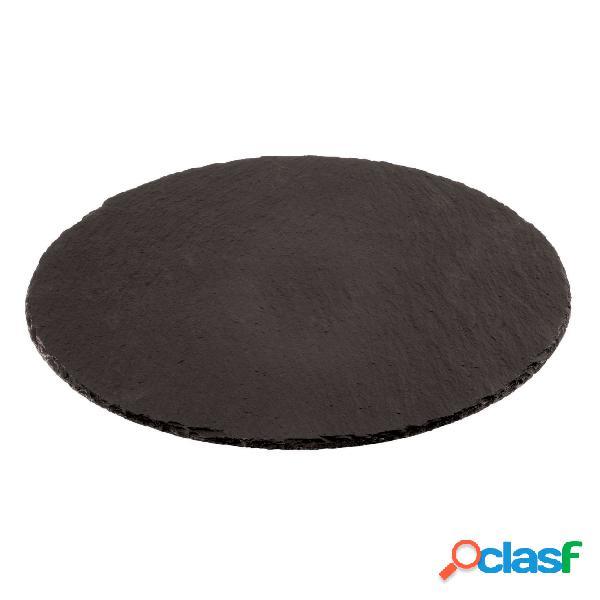 Piatto tondo cm 38 ardesia naturale, peso 1,95 kg