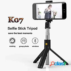 Asta per selfie Bluetooth Allungabile Lunghezza massima 70 cm Per Universale Android / iOS Lightinthebox