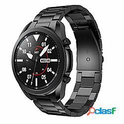 cinturini in metallo compatibili con Galaxy Watch 3 cinturini da 45 mm, cinturini in acciaio inossidabile massiccio cinturino in metallo sostitutivo per orologio Galaxy 3 orologio intelligent