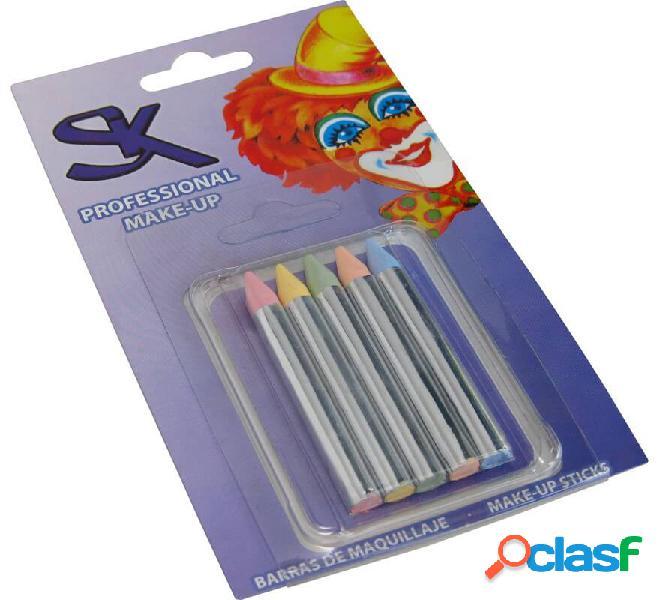 Blister di 5 barre di colori pastello di 8x75 mm