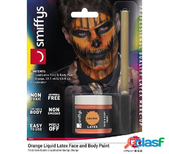 Blister in lattice liquido fluorescente arancione con applicatore