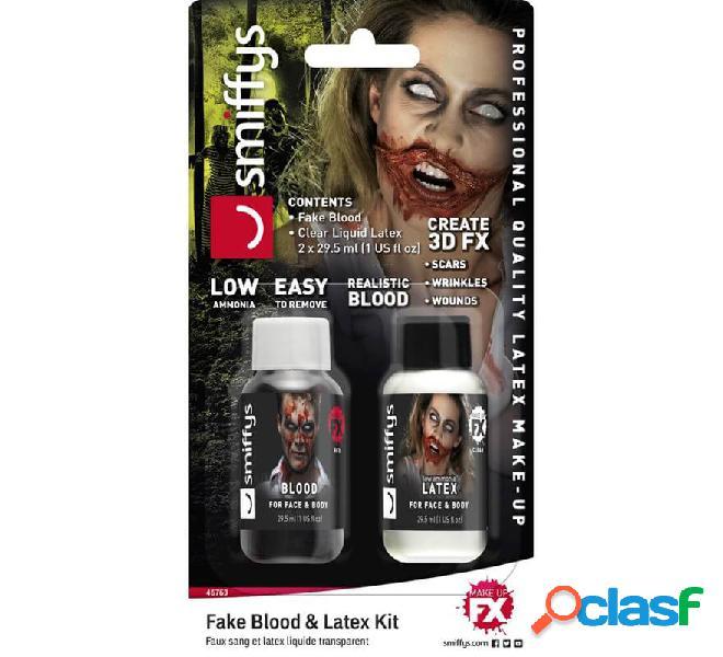 Blister di sangue e lattice per zombi da 29,5 ml.