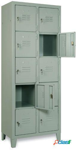 Armadio casellario struttura monoblocco a 10 caselle, profondità 350 mm