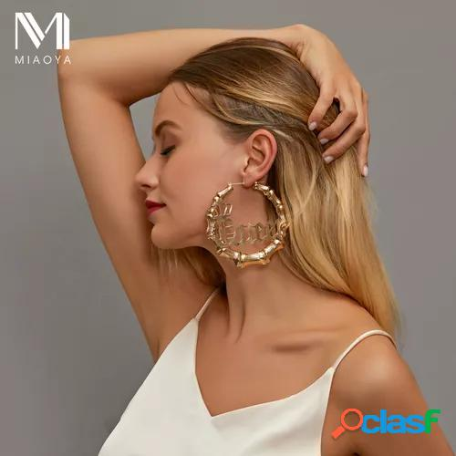 New style earrings with exaggerated round slubby big earrings