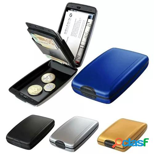 1pc rfid scan protected aluminium hard case credit card holder security wallet cool uk