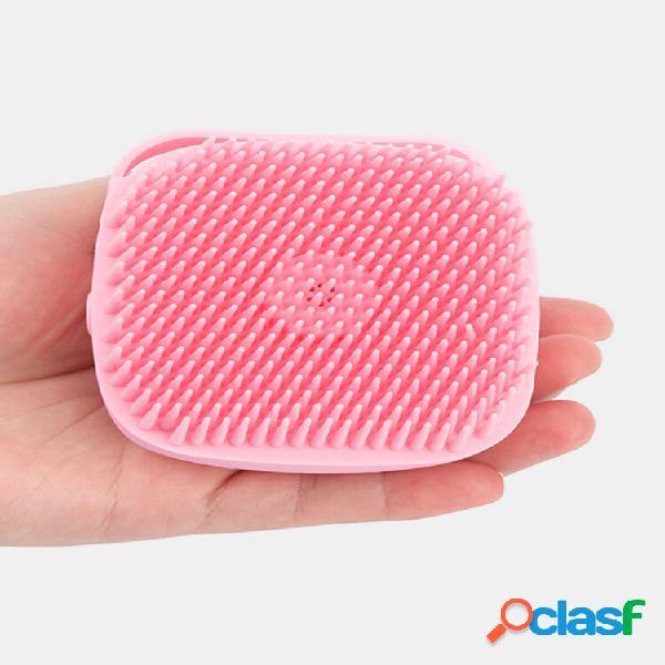 80ml silicone doccia pennello maniglia antiscivolo corpo compatto massaggio pettine