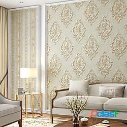 Carta da parati rivestimento murale adesivo pellicola buccia e bastone rimovibile damasco retro non tessuto decorazioni per la casa 531000 cm lightinthebox