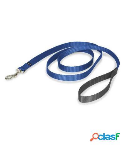 Guinzaglio in nylon bicolore per cani taglia xl vari colori blu - grigio