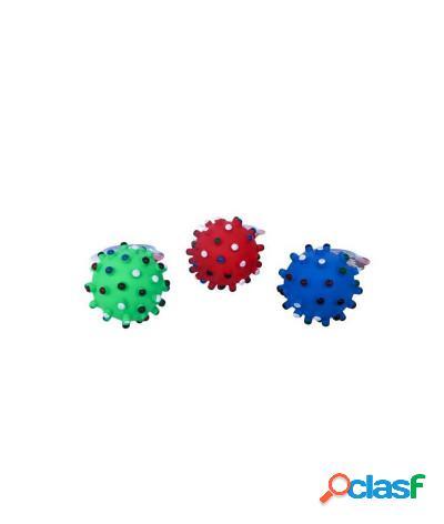 Giocattolo per cani a forma di palla spinosa per igiene orale vari colori