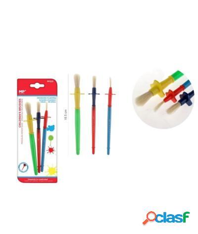 Pennello pittura per bambini scolastico in plastica 3 pezzi