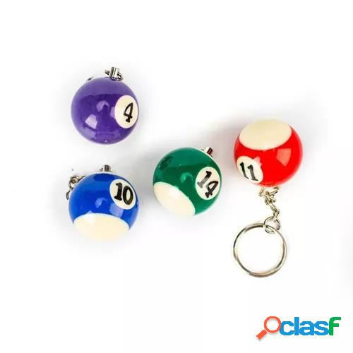 Assorted colorful billiards pool small ball keychain choose