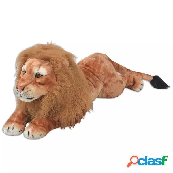 Vidaxl peluche leone marrone xxl