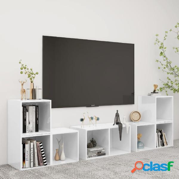 Vidaxl set mobili tv 6 pz bianco in truciolato
