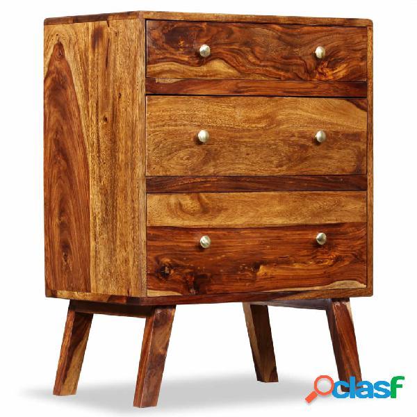 Vidaxl armadietto in legno massello di sheesham 60x35x76 cm