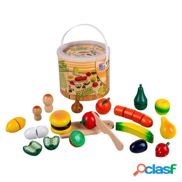 Happy people frutta e verdura giocattoli in legno multicolori
