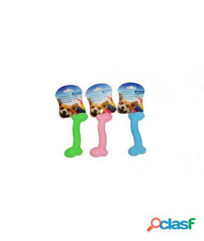 Giocattolo a forma di piccolo osso per igiene orale in schiuma tpr per cani