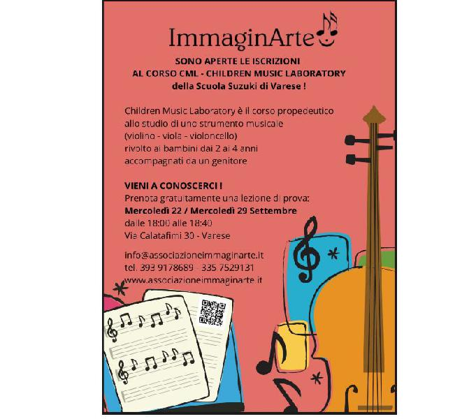 PERCORSO MUSICALE CML - CHILDREN MUSIC LABORATORY Varese - Corsi danza e arte
