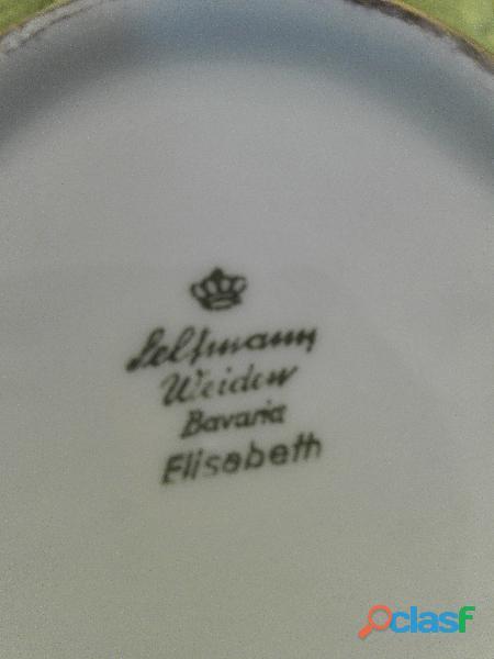 Servizio da caffè in porcellana Bavaria e oro zecchino, originale casa reale inglese.