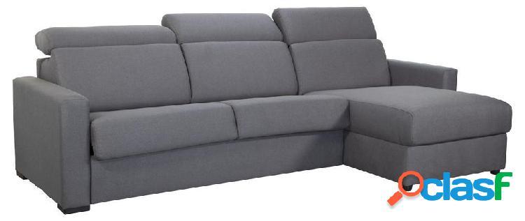 Divano angolare reversibile e trasformabile con box noro grigio