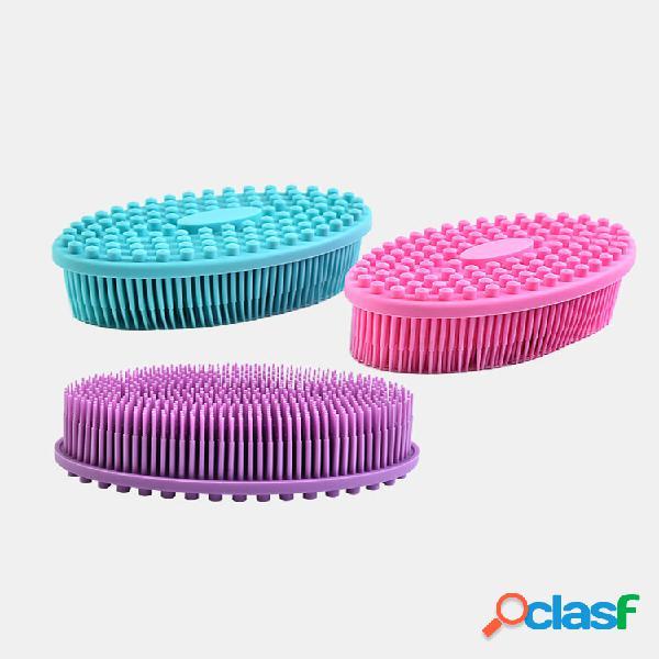 Bagnetto in silicone spazzole nuoto esfoliante per allenamento tattile massaggio pennello