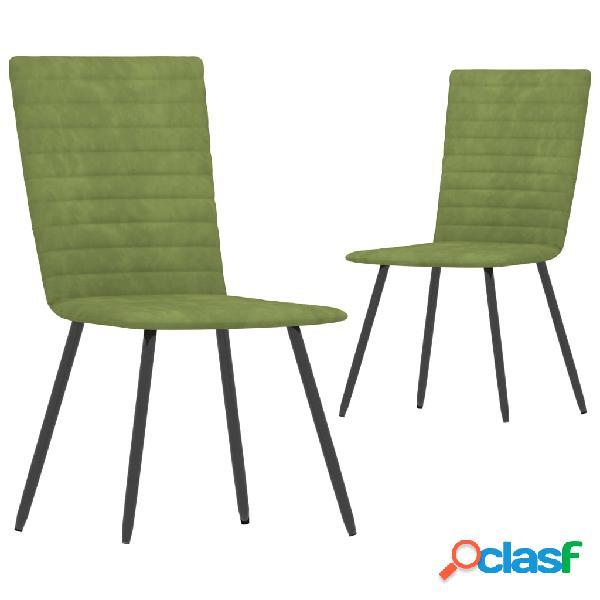 Vidaxl sedie da pranzo 2 pz verdi in velluto