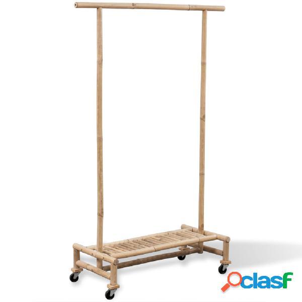 Vidaxl supporto appendiabiti in legno di bambù