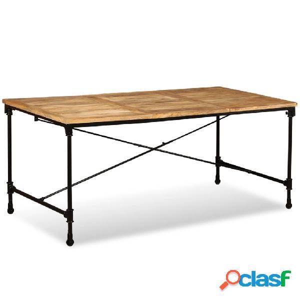 Vidaxl tavolo da pranzo in legno massello di mango 180 cm