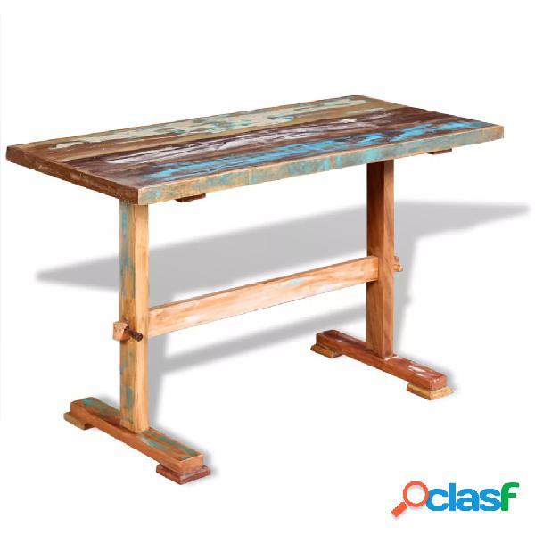 Vidaxl tavolo pranzo in legno massello anticato 120x58x78 cm