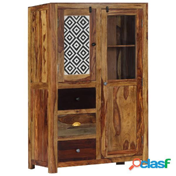 Vidaxl credenza 95x48x150 cm in legno massello di sheesham
