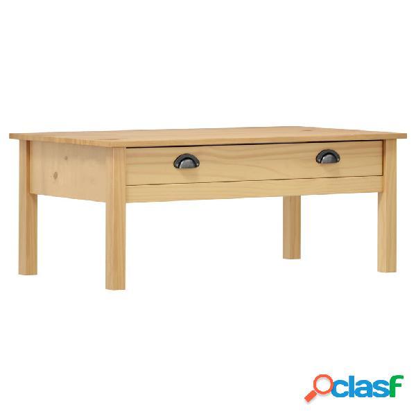 Vidaxl tavolino caffè hill range marrone miele 100x55x40 cm legno pino