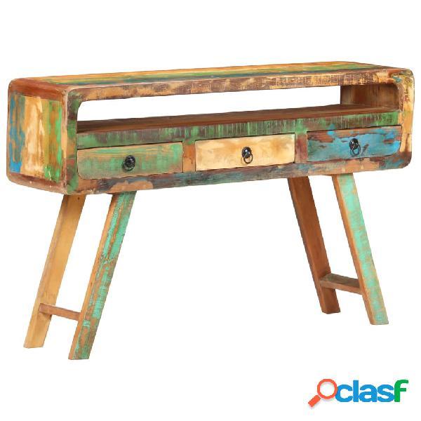 Vidaxl credenza 120x30x75 cm in legno massello di recupero