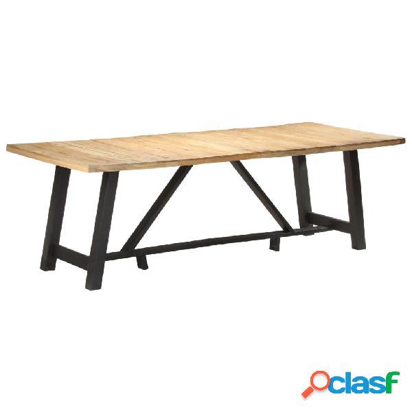Vidaxl tavolo da pranzo 240x100x76 cm in legno di mango grezzo